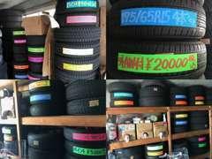 中古タイヤアルミ、ドラレコ・ナビオーディオ等の用品の販売取付も承ります。クレカ払い、各社オートローンも完備しております。