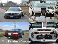 車高調の取り付けから、内装張り替え、オーディオ、アーム取付など致しております。