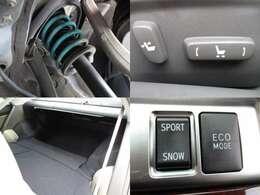 ローダウン パワーシート 後部座席倒して収納スペースUP モード切替可能
