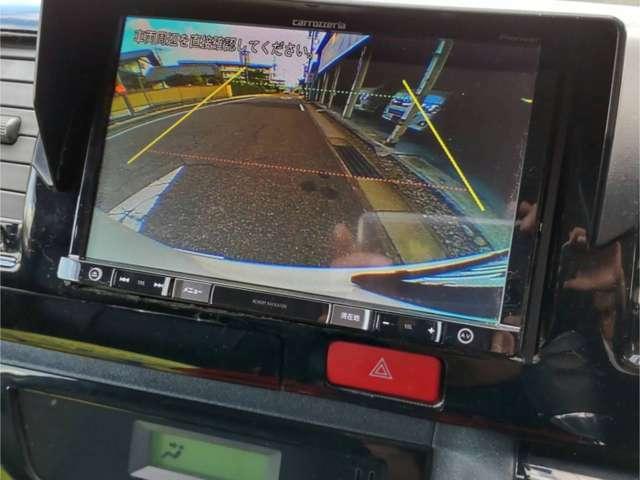 特に知らない場所での駐車・車庫入れなどには気を使います。 そんな時にはバックカメラがとっても便利。 カーナビと連動してドライバーの死角をサポートしてくれるので安心・安全が確保できます。