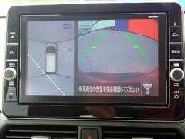 上からの視点で狭い駐車場への駐車などに役立つアラウンドビューモニターです♪