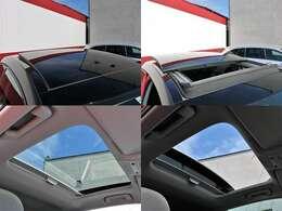 希少メーカーOPのパノラミックスライディングルーフを装備☆車内の換気にとても便利で採光性にも優れていますしなにより開放感と高級感がありますね☆
