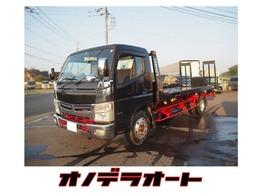 三菱 キャンター カスタム超ロング積載車 赤×黒カラー塗装/ナビ・ETC付き