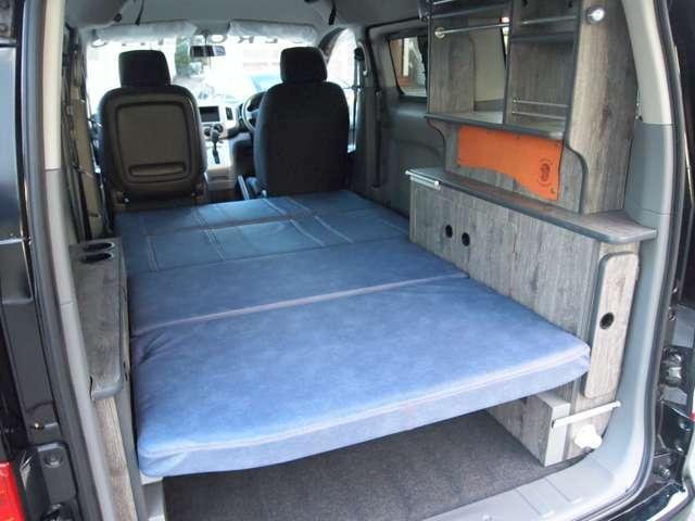 レボシート装備!ベッドモードで快適に夜を過ごせます。