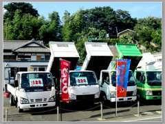 冷凍車やアルミバン・高所作業車などの商用車がメインの品揃えとなります。業販もお任せください!!