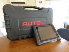 最新のAUTELの診断機です。お車の不具合をいち早く発見し、整備させていただきます。