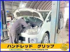 自社工場完備で、お客様のお車を点検・メンテナンスでサポート!オイル交換・タイヤ組み換え・カスタムなども受け付け中です♪