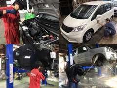 ☆車検・整備・メンテナンス☆ 高い修理品質を心がけ作業を行っております。ボディコートやルームクリーニングもお任せ下さい。
