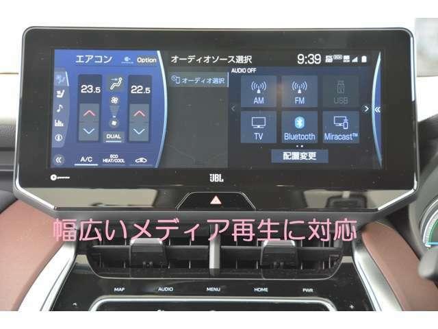 12.3型ディスプレイT-ConnectSDナビ+JBLプレミアムサウンドシステム(9スピーカー)、USB入力、Miracast対応、SDL、AppleCarPlay、AndroidAuto対応♪