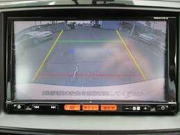 バックカメラが付いて車庫入れも安心です、付いているとうれしい装備のひとつですね