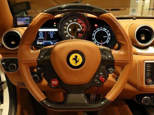 ハンドルは人気のLED付きカーボンハンドルです。内装カラーと統一されております。