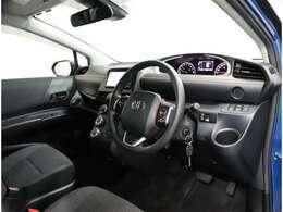 運転席は視界が広くなっており,安心頂けます。