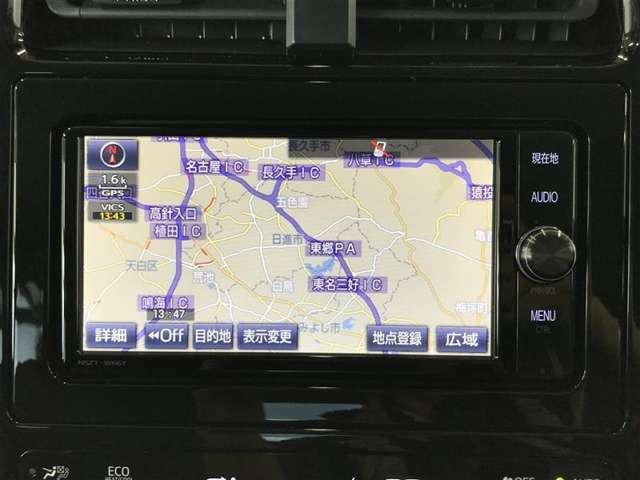 【純正ナビ装着車】 トヨタ純正SDナビ装着車です。トヨタ純正ならではのシンプルでカンタン操作が魅力です! フルセグ/DVDビデオが視聴可能です♪