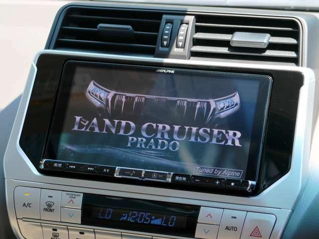 Aプラン画像:大画面ALPINE9インチメモリーナビ付き!もちろんミュージックサーバーも付いていますので音楽録音OK♪地デジ対応、DVD再生♪走行中のTV視聴やナビの操作も可能です!!