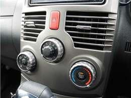 【 マニュアルエアコン 】 寒い冬も暑い夏でも全席に快適な空調をお届け致します