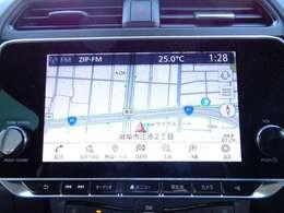 リーフ専用9インチ画面のNissanConnectナビは充電スポットの自動更新や、Bluetooth対応、さらにさまざまなスマホアプリと連動、Apple CarPlayにも対応しています。