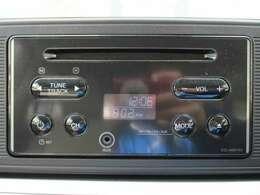 操作の簡単な純正CDプレーヤー装備です。