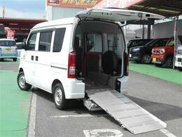 スズキ エブリイワゴン 660 ウィズ 車いす移動車 リヤシート付 電動固定式 補助席&車椅子乗員用手摺付