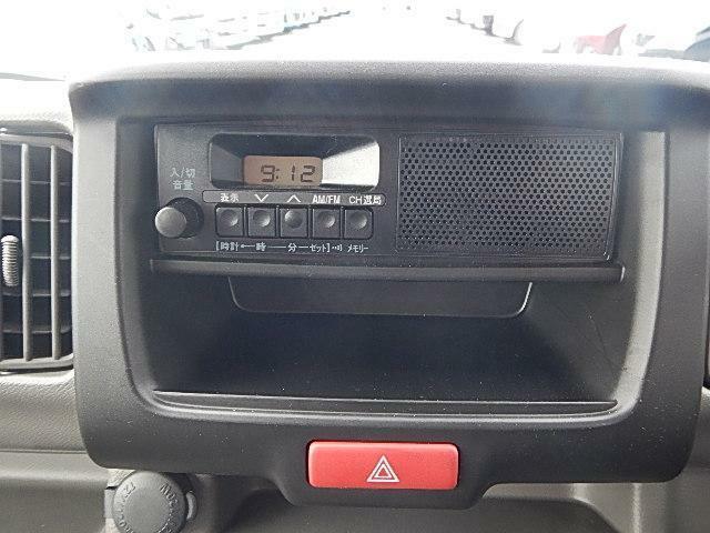 スピーカー付AM・FMラジオがついてます。