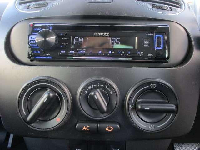社外CDオーディオが装備されております♪USB端子もございますので外部機器の接続も可能です♪好みの音楽を聴いて、ドライブをお楽しみ下さい♪エアコン操作も簡単で分かりやすい表記になっております♪