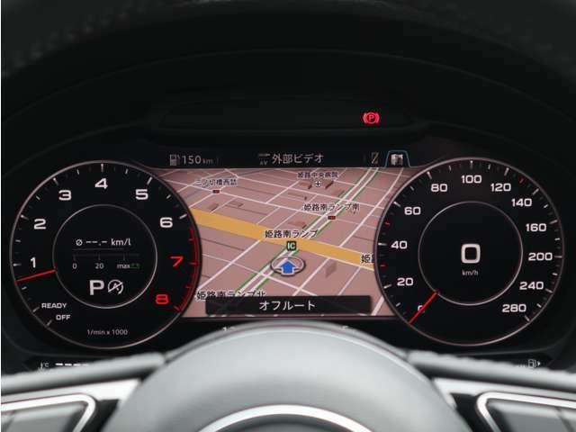 シンプルで視認性のよいスピードメーター。運転中に必要な情報を目前に集約することで、前方からの視線移動を抑え運転の集中を妨げません。