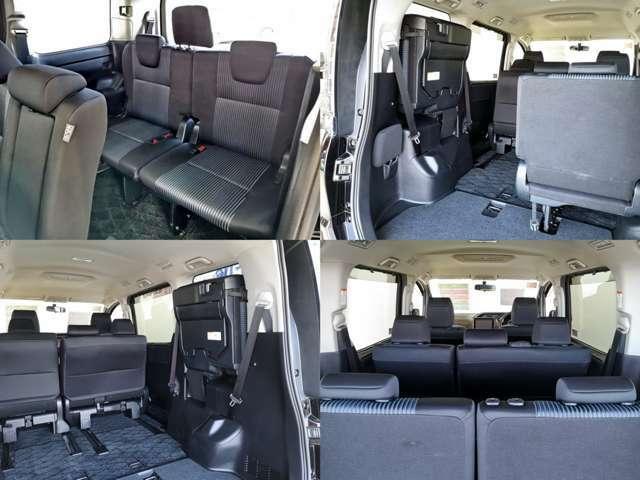 7人乗りがミニバンで売れ筋でしたが 最近はセカンドベンチシートタイプが ひそかなブーム・・・ チャイルドシートや 車中泊を考慮すると キャプテンシートより便利ですね