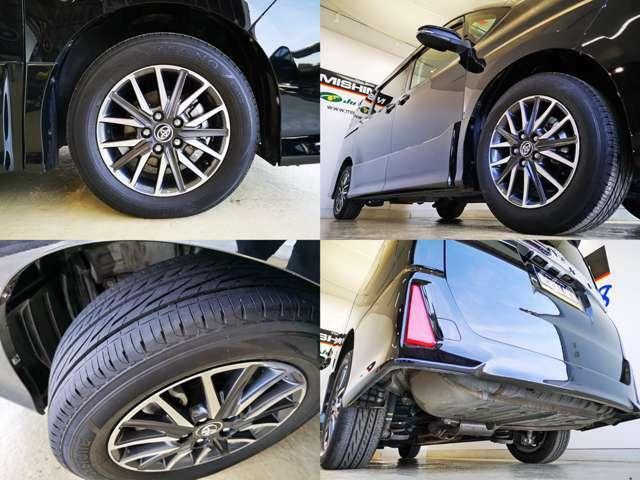 装着タイヤで前オーナーの車へのこだわりがある程度解りますね、海外製から最 高 級 までピンキリの消耗品、タイヤ界の高級品 ブリジストン製REGNO装着済み、これ、すごく高いですよ、山もタップリです