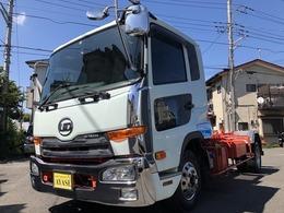 UDトラックス コンドル 3.65t積脱着式コンテナ専用車MTベッド付き 新明和製アームロールWシリンダー