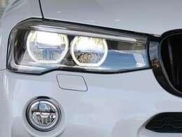 十分な明るさと、優れた省消費電力を兼ね備えた、オプションのLEDヘッドライトを装着しています。