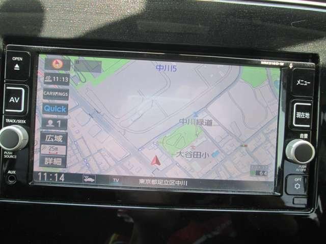日産純正メモリーナビゲーション(MM316D-W)ですので扱いやすいです!フルセグTV視聴可能です!