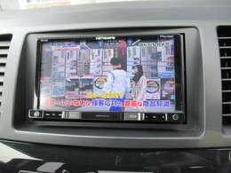 フルセグ対応メモリーナビ装備 遠乗りドライブ時もテレビをお楽しみ頂けます!