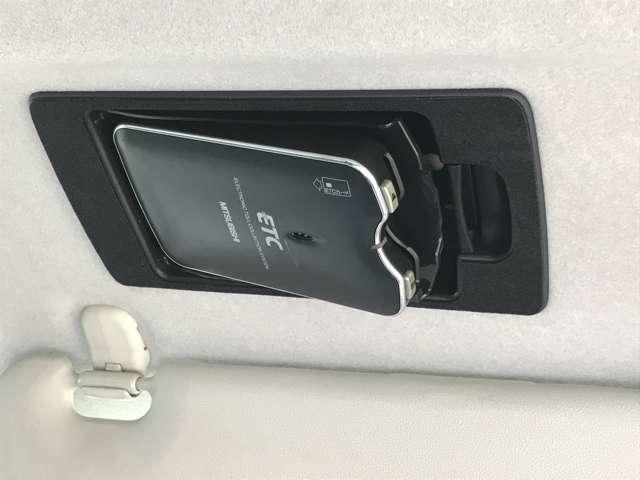 ☆運転席サンバイザーの裏に、ETC専用のボックスを設置。見た目もスッキリですし、盗難防止にも寄与します。☆