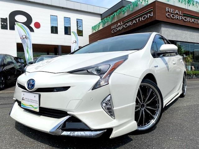 H30年式プリウスS セーフティプラス純正9インチナビ モデリスタタイプLEDエアロ入庫致しました。同グレード同オプション新車購入参考価格3,300,000円