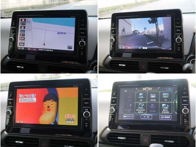 大画面9インチモニターの純正SDナビゲーション付き☆CD/DVD再生・Bluetooth機能・SD/USB対応・フルセグTV(走行中視聴可能)!スイッチも大きくて使い易いです☆ナビ連動ドラレコなのでモニターで確認可能です