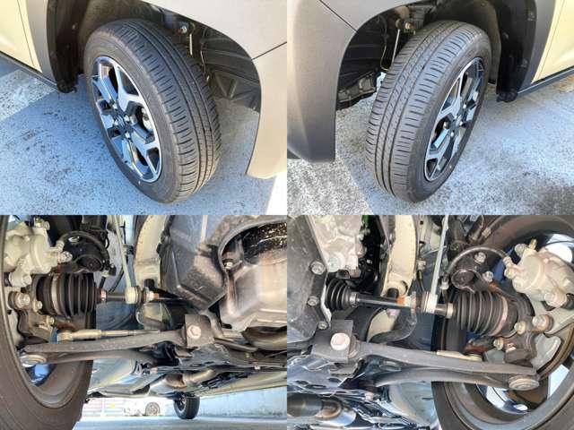 タイヤの目、ブーツの破れなどもなく安心してお乗りいただけます♪もちろん下回りのサビもありません!