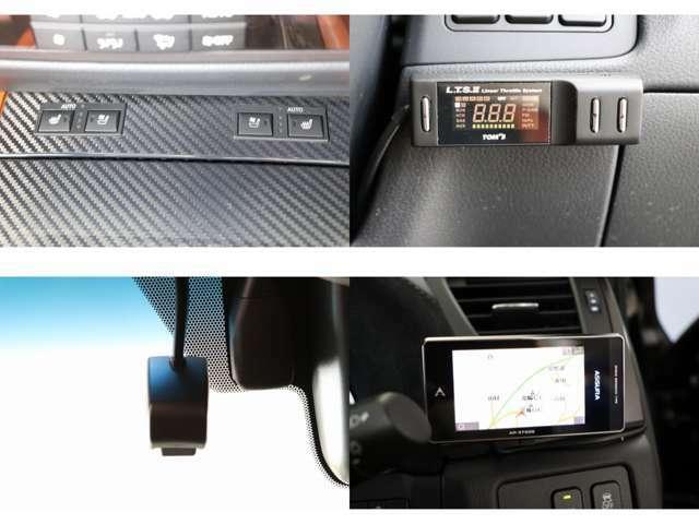 リアサンシェード エアコンディショニングシート コーナーセンサー マニュアルシフトモード パドルシフト サンルーフ トムススロットルコントローラー GPSレーダー