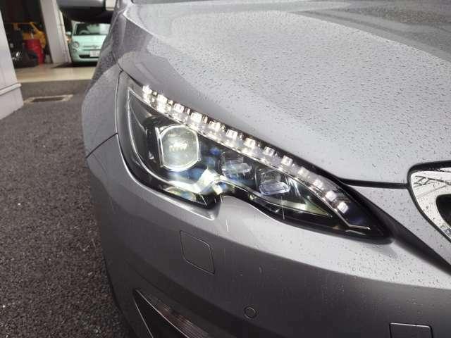 明るさや立ち上がりスピード、消費電力において優位性を持つLEDヘッドライト装備。