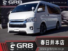 トヨタ ハイエース 2.7 GL ロング ミドルルーフ 1オーナ SDナビ フルエアロ 18inAW