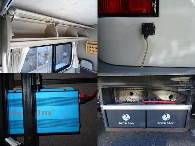 ツインサブバッテリー 600W正弦波インバーター 外部充電 走行充電 装備♪