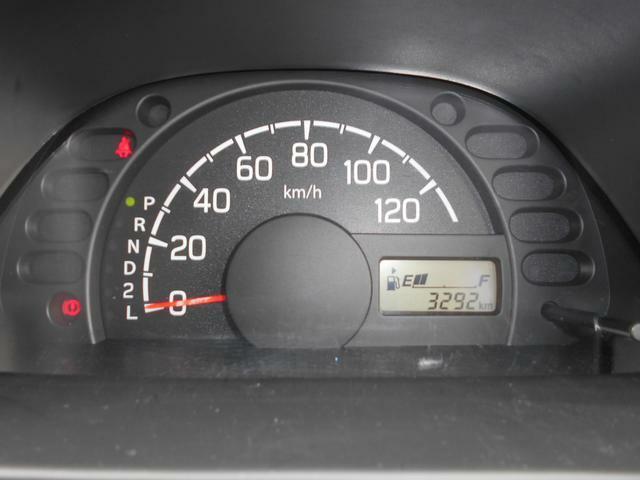 メーターは見やすいシンプルなデザインです。走行距離は3,291kmです。