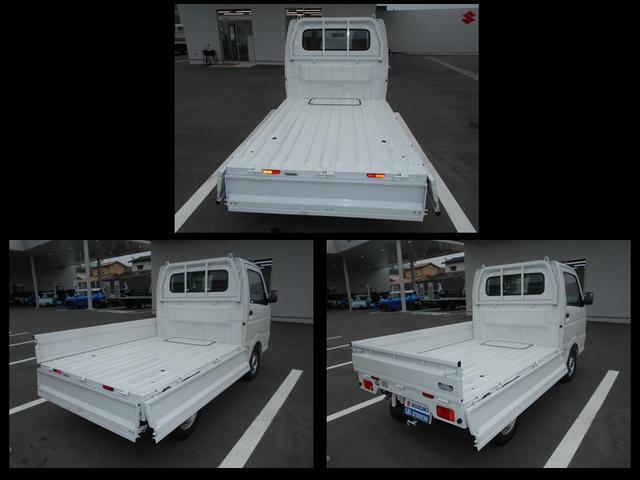 荷台のアオリは左右後方様々な場所から操作可能です。