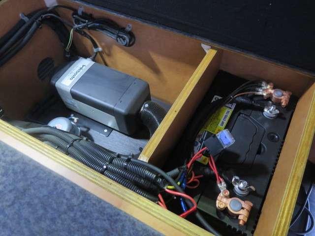 シングルサブバッテリー、走行充電、ベバストFFヒーター装備です♪