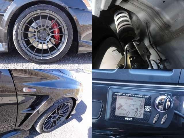 エンケイ18インチAW/HKSハイパーマックス車高調/VARIS製フロントフェンダー/BLITZ製ブーストコントローラー☆