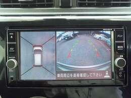 車の全周囲を確認できるアラウンドビューモニター搭載