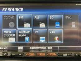 CD・DVD・Bluetooth Audioの再生が可能です!長距離ドライブも退屈しなくて済みますよ♪