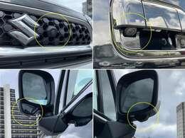 全方位モニター用カメラパッケージ☆フロントグリル、ドアミラー、バックドアにカメラが付いています☆駐車の時にナビ画面で自車位置を確認できますよ☆おすすめナビゲーションはスタッフがご提案いたします!