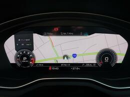 ●バーチャルコックピット『メーターパネル内に高解像度の液晶ディスプレイを配置。ディスプレイ内に地図が表示され、ナビゲーションの確認の際にドライバーは視線の移動を少なくすることができます。』