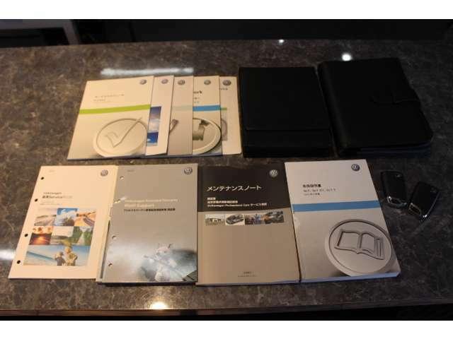 取扱説明書 メンテナンスノート(点検整備記録簿) 保証書等の備品も完備しております。