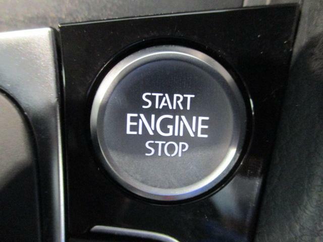 スタートボタンを押すだけでエンジンの始動、停止ができます。