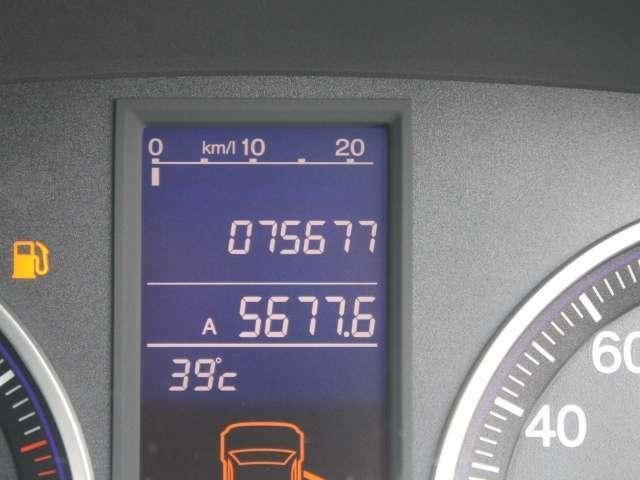 走行距離は写真撮影時で75,677キロです☆彡